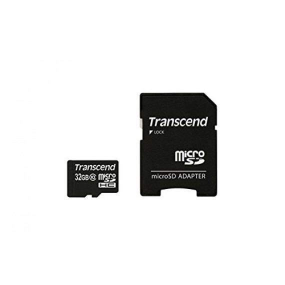 Carte Mémoire Transcend microSDHC Card 32 GB noir, Class 10, avec Adapter