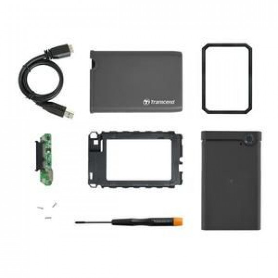 TRANSCEND StoreJet 25CK3 SSD/HDD 0GB ext  StoreJet 25CK3 SSD/HDD 0GB externe 6.4cm 2.5pouce SATA 6Go/s Upgrade Kit