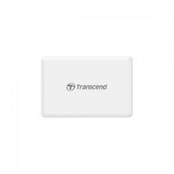 TRANSCEND Multi Memory Card Reader  All-in-1 Multi Memory Card Reader USB 3.0/3.1 Gen 1 White