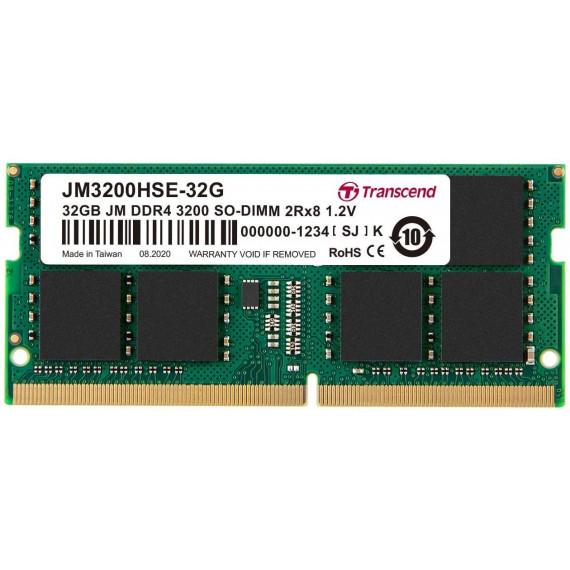 TRANSCEND 32Go JM DDR4 3200Mhz SO-DIMM  32Go JM DDR4 3200Mhz SO-DIMM 2Rx8 2Gx8 CL22 1.2V