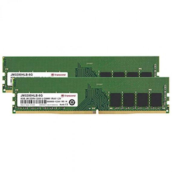 TRANSCEND JM 16Go KIT DDR4 3200Mhz U-DIM  JetRam 16Go KIT DDR4 3200Mhz U-DIMM 1Rx8 1Gx8 CL22 1.2V