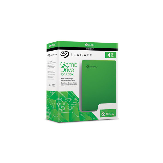 """Seagate 4To 2""""1/2 USB3 Game Drive Xbox Vert"""