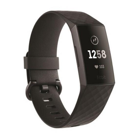 Fitbit Bracelet connecté  Charge 3 Noir