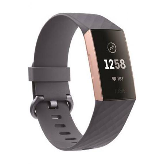 Fitbit Bracelet connecté  Charge 3 Rose Gold / Blue Grey