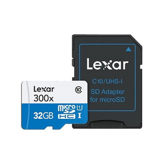 Lexar 32GB 300x High Perf microSDHC w/adapt