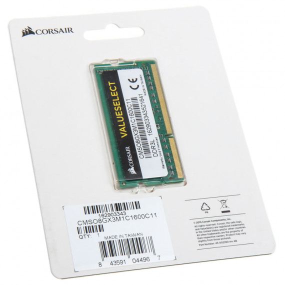 CORSAIR Value Select SO-DIMM 8 Go DDR3L 1600 MHz CL11