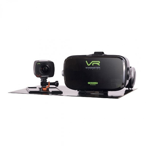 Monster Caméra sportive  Vision 360° vr + casque vr audio