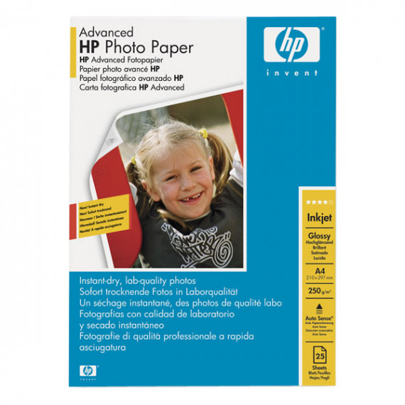 HP Q5456A - Papier Photo Advanced A4, papier glacé (25 feuilles)