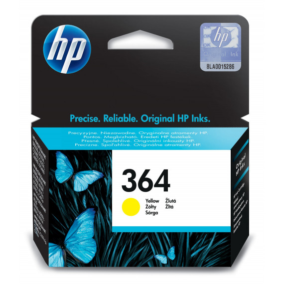 HP HP 364 ink yellow Vivera blister HP 364 original cartouche d encre jaune capacite standard 3ml 300 pages 1-pack Blister multi tag avec d encrePhotosmart