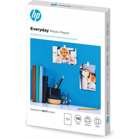 HP Papier photo brillant Everyday 10 x 15 cm