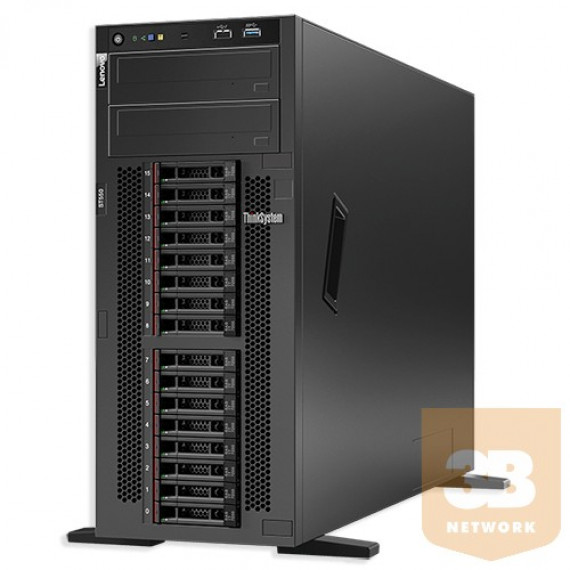 LENOVO ThinkSystem ST550 XeS 4208  ThinkSystem ST550 Xeon Silver 4208 8C 2.1GHz 85W 16Go 2Rx8 RAID 930-8i 2Go Flash PCIe 12Go Adapter 1x1100W XCC Enterprise
