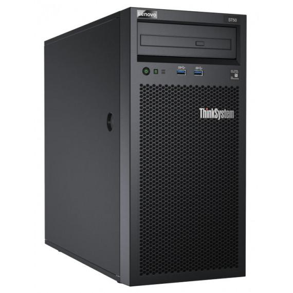 LENOVO DCG ThinkSystem ST250 E-2224  DCG ThinkSystem ST250 Xeon E-2224 4C 3.4GHz 8MB Cache/71W 1x16GB O/B 2.5inch HS 8 SW RAID HS 550W XCC Standard DVD-RW