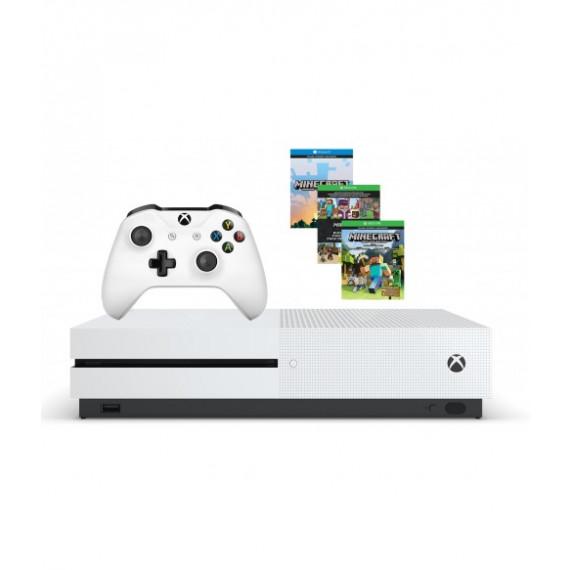 Microsoft Microsoft Xbox One S (500 Go) + Minecraft - Console de jeux-vidéo 4K nouvelle génération avec disque dur 500 Go + Minecraft