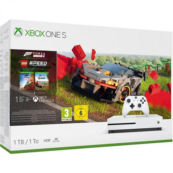 Microsoft Console  Xbox One S 1To Forza Horizon 4+DLC Lego