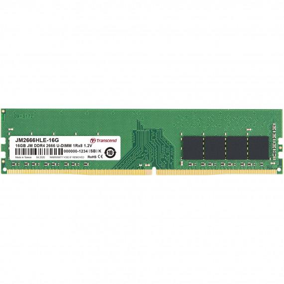 TRANSCEND 16Go JM DDR4 2666Mhz U-DIMM  16Go JM DDR4 2666Mhz U-DIMM 1Rx8 2Gx8 CL19 1.2V
