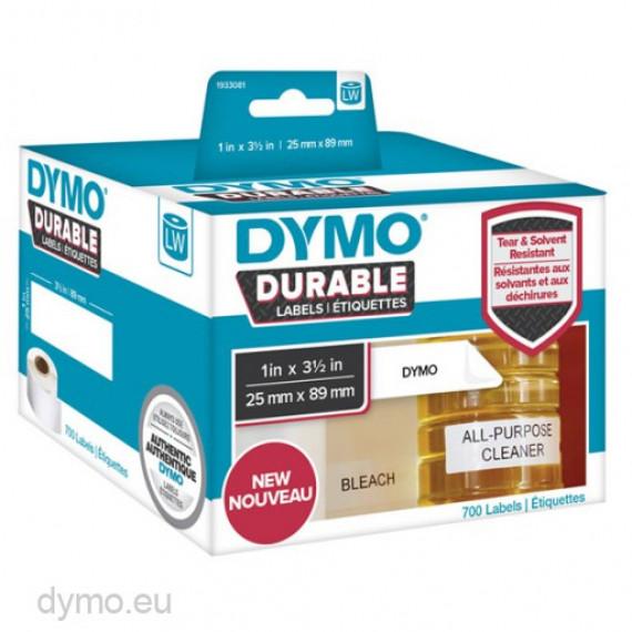 DYMO LW Pack de 2 rouleaux d'étiquettes universelles permanentes blanches