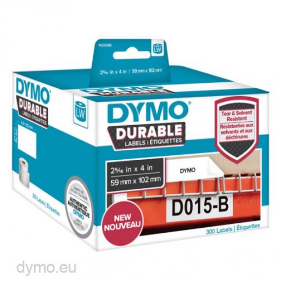 DYMO LW Rouleau d'étiquettes universelles permanentes blanches
