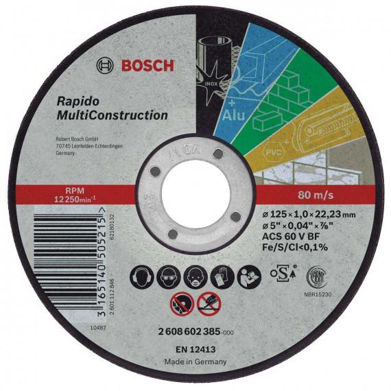 Disque à tronçonner  Bosch Rapido 115 x 1 mm