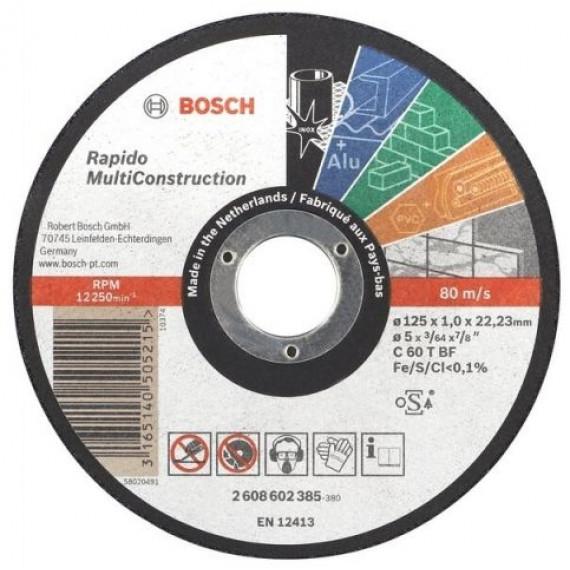 Disque à tronçonner  Bosch Rapido 125 x 1 mm