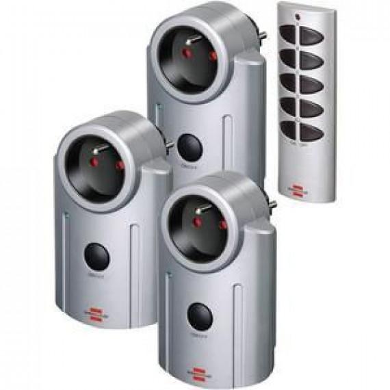 Brennenstuhl Pack télécommande + 3 prises télécommandées Primera-line RC 3600