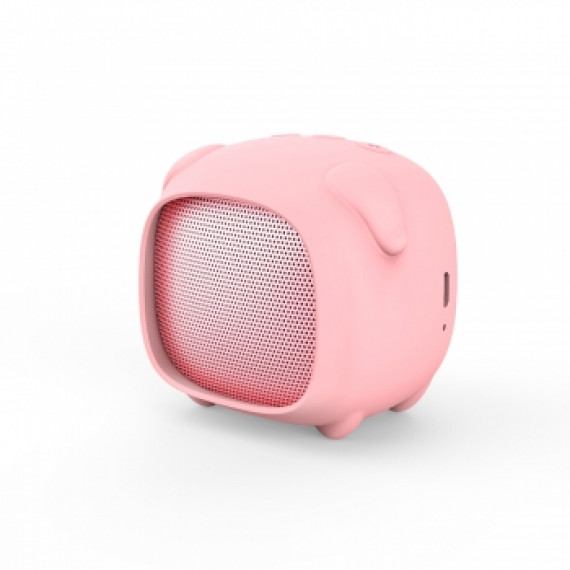 WE Pack enceinte Bluetooth fille 2 coque interchangeable lapin/cochon