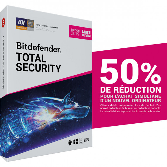 BITDEFENDER Total Security 2019 Offre Attachement
