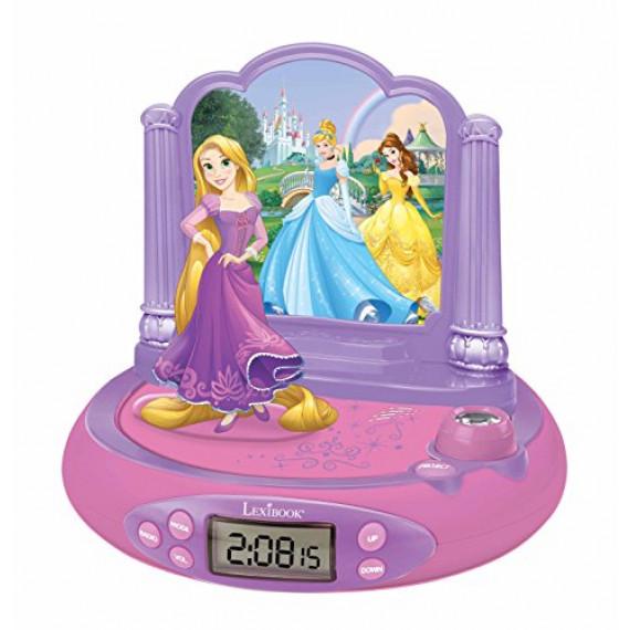 Lexibook Réveil Projecteur Disney Princesses Raiponce en 3D et sons magiques
