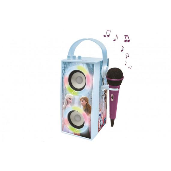 Lexibook Enceinte Tendance Bluetooth® portable avec micro et effets lumineux La Reine des Neiges