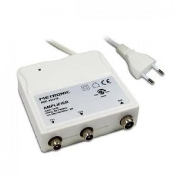 1Control METRONIC 432176 Amplificateur d'intérieur à réglage de gain FM