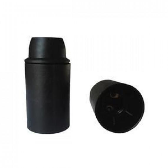 GENERIQUE Douille E14 thermoplastique lisse noir