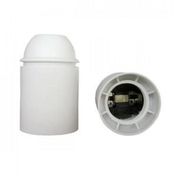 GENERIQUE Douille E27 thermoplastique lisse blanc