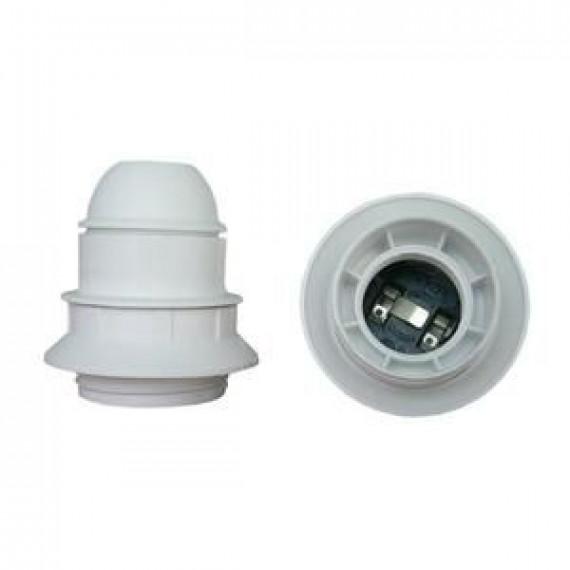 GENERIQUE Douille E27 thermoplastique simple bague blanc