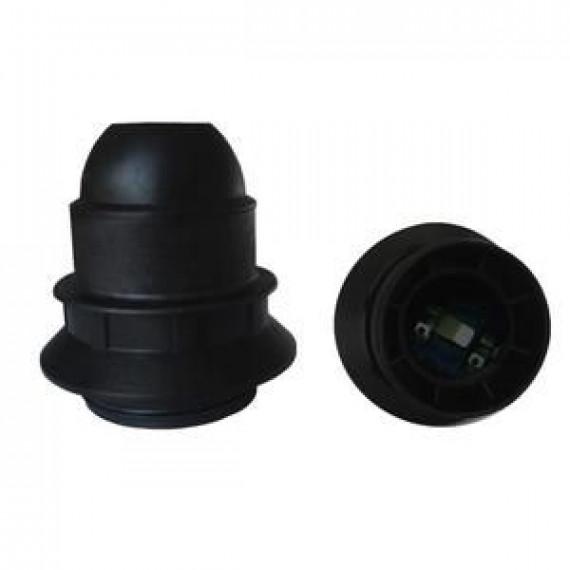 GENERIQUE Douille E27 thermoplastique simple bague noir