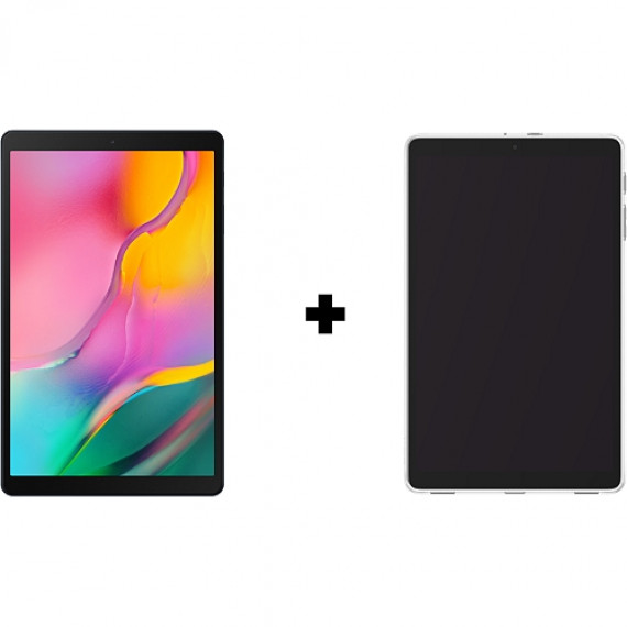 """SAMSUNG Tablette Android 10"""" pouces + Coque  Galaxy Tab A Noire + Protection transparente"""