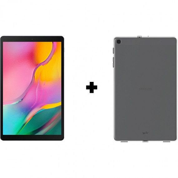 """SAMSUNG Tablette Android 10"""" pouces + Coque  Galaxy Tab A Grise + Protection transparente"""