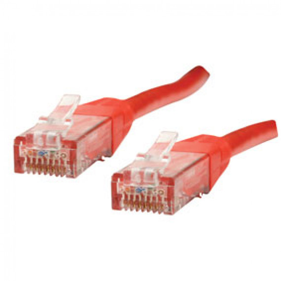 MCL Cordon Cat 6 RJ45 U/UTP - 1m Rouge