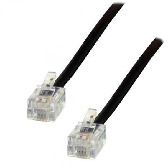 MCL Cordon spécial ADSL connecteurs RJ11 6/4 mâle / mâle - 20m