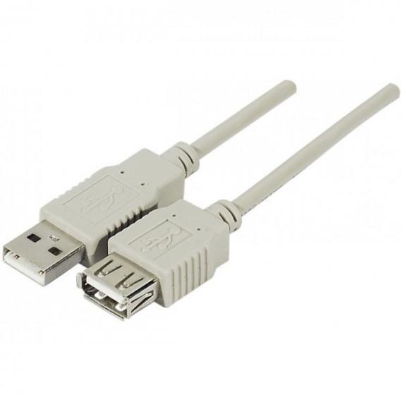 MCL Rallonge USB 2.0 MCL type A mâle / femelle  3m Noir