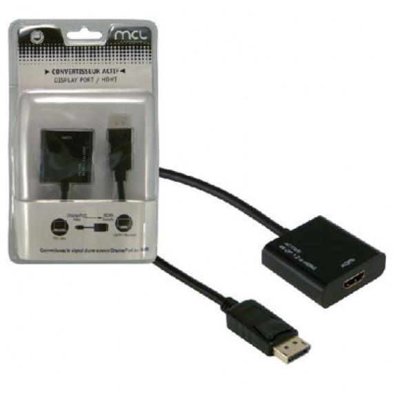 GENERIQUE Adaptateur actif DisplayPort mâle / HDMI femelle (compatible 4K et 3D)