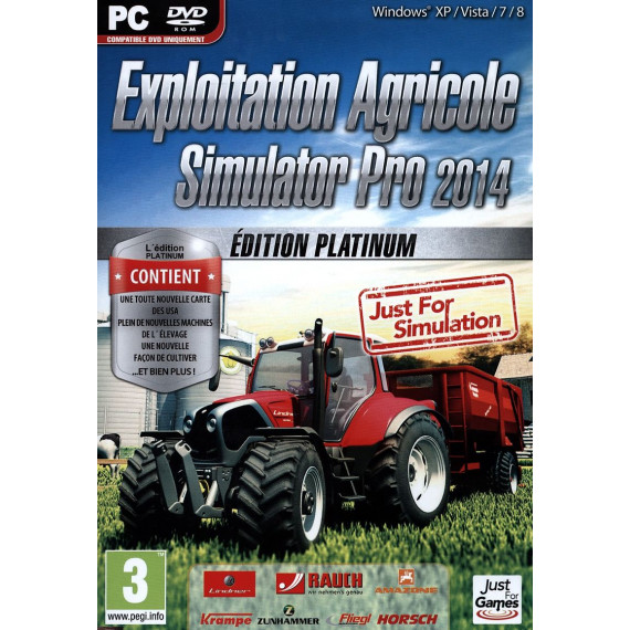 JUST FOR GAMES EXPLOITATION AGRICOLE PRO PC