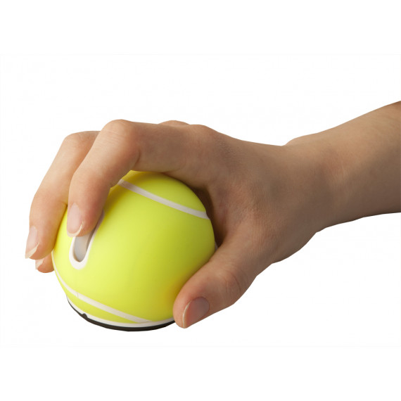 URBAN FACTORY Urban Factory Mouse Wireless Tennis Ball Yellow 2.4HGz, 1200 dpi, 2 buttons & scroll, requires 2xAAA batteries