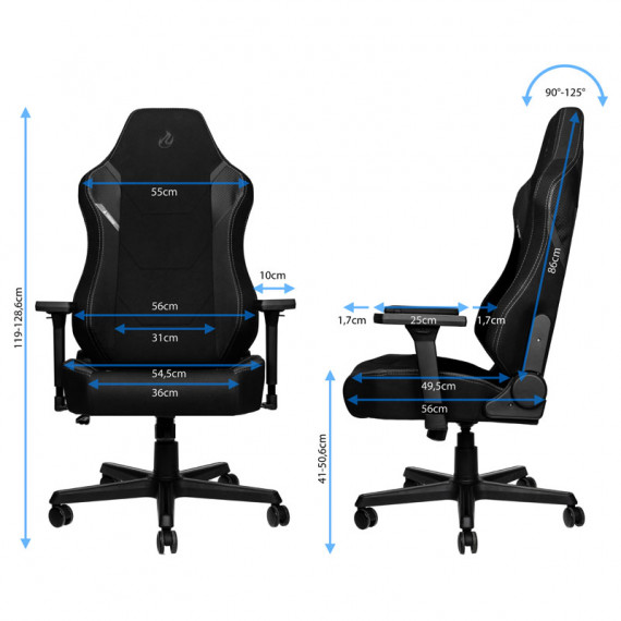 Nitro Concepts X1000 Gaming Fauteuil - Stealth Black