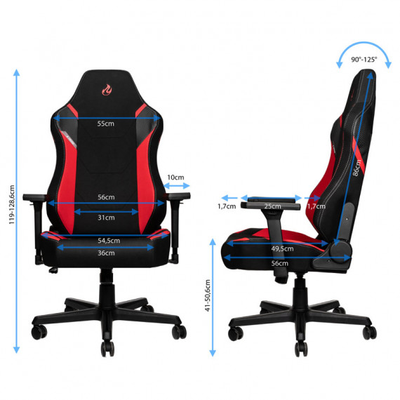 Nitro Concepts X1000 Gaming Fauteuil - Inferno Red