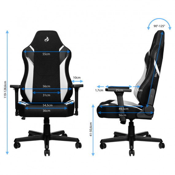 Nitro Concepts X1000 Gaming Fauteuil - Radiant White