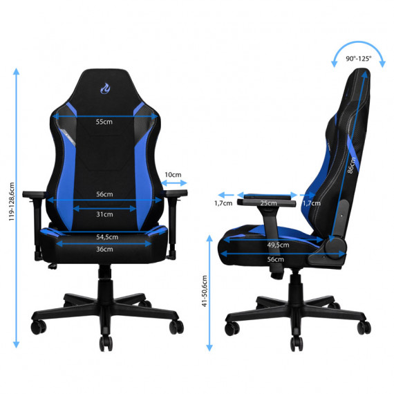 Nitro Concepts X1000 Gaming Fauteuil - Galactic Blue