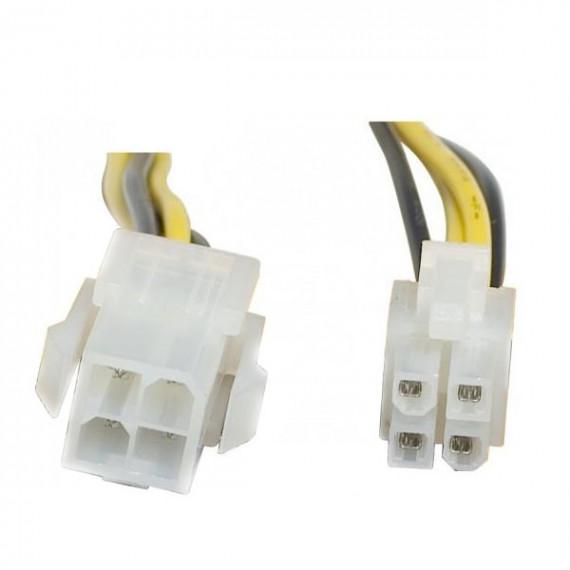 GENERIQUE Rallonge d'alimentation auxiliaire P4 Mâle/Femelle (20 cm)