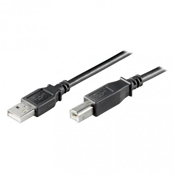 GENERIQUE Câble USB 2.0 Type AB (Mâle/Mâle) Noir
