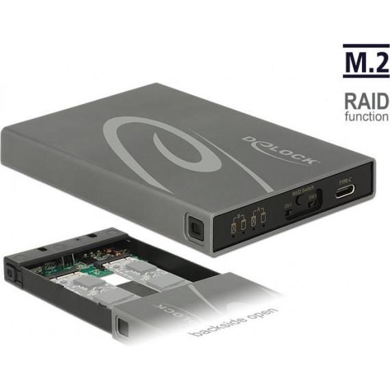 DeLock 2x M.2 Key B SSD > USB 3.1 Gen 2 USB Type-C