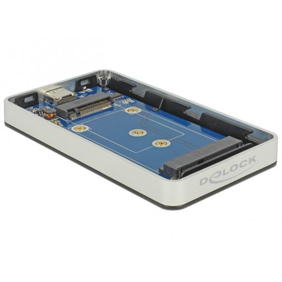 DeLock M.2 Key B 42 mm / mSATA SSD > USB Type-C 3.1 Gen 2