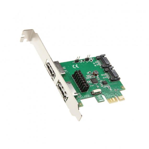InLine PCIe x1 pour 2x SATA 6G / 2x eSATA 6G